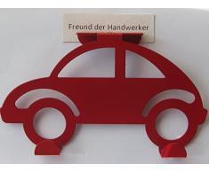Hettich Hängegarderobe Auto Türgarderobe Kindergarderobe rot, Metall, 17 x 10 cm, 1 Stück