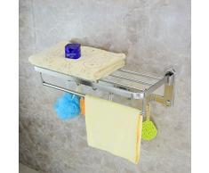 XYQX Wand Stainless Aktivitäten Bathrooml Handtuchhalter Mit Haken Klapp