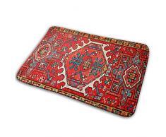 Elsaone Antik Orientalisch Türkischer Teppich Willkommen Türmatte Teppich für Küche Bad Outdoor Veranda Waschküche Wohnzimmer Matte 60 x 40 cm