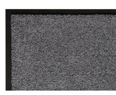 andiamo Schmutzfangmatte Fußabtreter Türmatte Fußmatte Sauberlaufmatte Schmutzabstreifer Türvorleger – Eingangsbereich In/Outdoor – rutschhemmend waschbar grau Polypropylen– 60x90 cm – 5 mm Höhe