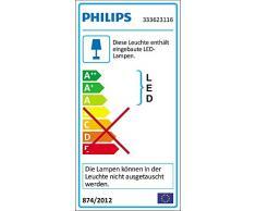 Philips myLiving LED Deckenleuchte Cinnabar, 1300 lm, 32 x 32 x 7,9 cm, Warmweiß 333623116