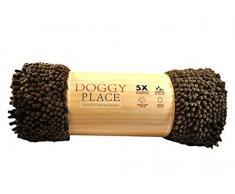 My Doggy Place Fußmatte aus Mikrofaser, sehr saugfähig, schnelltrocknend, waschbar, verhindert Schlammschmutz, hält Ihr Haus sauber (braun, Läufer) – 152,4 x 91,4 cm