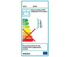 EGLO LED Pendellampe Lasana, 1 flammige Pendelleuchte, Hängeleuchte aus Alu, Stahl, Kunststoff, Farbe: chrom, weiß