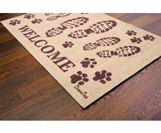 Doortex Schmutzfangmatte | Fußmatte | 60 x 100 cm | aus Nylonfasern auf Vinylrücken | Motiv: Welcome | Stiefel | für den Innenbereich