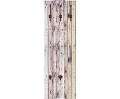 Artland Qualitätsmöbel I Garderobe Wandpaneele mit Motiv 45 x 140 cm Architektur Architektonische Elemente Foto Creme A7MU Weißer Vintage-Hintergrund auf natürlich, alter Holzwand