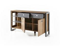 Beauty.Scouts Sideboard Java Living I Kommode, Highbaord, Schrank, Wohnzimmerschrank, Dielenkommode, Stirling Oak Nachbildung, 150x81x35 cm
