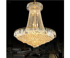 MSAJ Goldene Kristall Kronleuchter Leuchten Die Wohnzimmer Restaurant  Treppenhaus Kronleuchter Runde Led Lampen ,