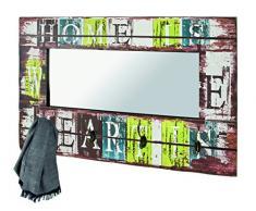 HAKU Möbel 89992 Wandgarderobe, 10 x 80 x 52 cm, vintage