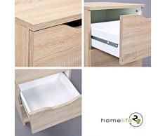 H24living Kommode Schrank mit Vier Schubladen Aufbewahrung Badschrank Badezimmerschrank Flurschrank Dielenkommode