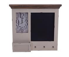 Vintage-Line Memoboard Kolding Wandorganizer Uhr Tafel Garderobe Landhaus Stil