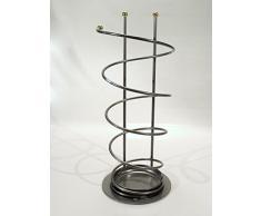 Schirmständer Regenschirmständer Spirale 59 cm Eisen silber mit Edelstahlkugeln