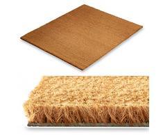 Floordirekt Kokos Fußmatte, natürlicher Schmutzstopper für Innen- und Aussenbereiche, 17 mm, drei Größen (50x80cm)