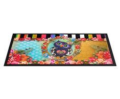 Schmutzfangmatte / Fußmatte / Fussmatte / Fußabstreifer / Fußabtreter/ Schmutzmatte Modell Melli Mello Deco Owlie / Eule / witzig lustig Größe ca. 45 x 75 cm / Decomat-Fußmatte / sehr hochwertige Fußmatte