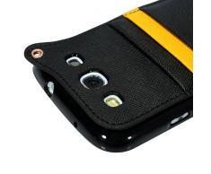 YOKIRIN Schwarz Weich TPU Phone Case Hängegarderobe Gurt Seil Abdeckung Hülle für Samsung GALAXY SIII I9300 Tasche Handytasche Zubehör