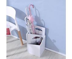 DDGOD Holz Schirmständer,Regenschirmständer Abnehmbare Schirmhalter Hand gefertigt Hand gefertigt Weiß Mini Kunststoff Indoor Lagerung-Rack Veranstalter-stöcke-C 25x21x52cm(10x8x20)