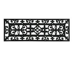 Andiamo Gummi-Türmatte Libretto Fußabtreter Antik eckig Fußmatte, Weichkautschuk, Schwarz, 25 x 75 x 0,5 cm