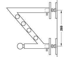 Design Wandgarderobe paneel Garderobenarm Edelstahl Garderobenkonsole Kleiderhaken - Modell HERA | Edelstahl gebürstet massiv | MADE IN GERMANY | 1 Stück mit Befestigungsmaterial