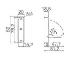 GedoTec® Moderner Klapphaken Garderobenhaken Kleiderlüfter Huthaken klappbar PANAMA II zum Einlassen | 80 x 20 / 66 mm | Chrom poliert | Markenqualität für Ihren Wohnbereich