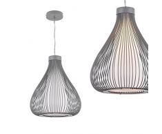 [lux.pro] Metall-Korb Hängeleuchte Nizza Grau E27 Deckenleuchte Leuchte Pendelleuchte