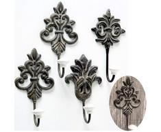 LS Design 2 Metall Garderobenhaken Wandhaken Wandgarderobe Garderobe Shabby Antik