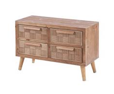 ts-ideen Kommode Schubladenschrank Sideboard TV-Bank Fernsehtisch Flur Diele Regal Holz 55 x 80 cm