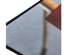 FANTAZIO Fußmatte für den Innen- und Außenbereich, aus Eisen, 99 x 51 cm