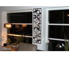 Wandgarderobe / Garderobe, Design Downtown, 140x40x2 cm, Edelstahl 3D poliert (glänzend) (Marke: Szagato, Made in Germany) (Kleiderständer Garderobenständer Wandpaneel Wanddeko Kleiderhaken Flurgarderobe)