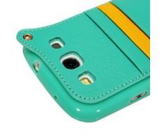YOKIRIN Grün Weich TPU Phone Case Hängegarderobe Gurt Seil Abdeckung Hülle für Samsung GALAXY SIII I9300 Tasche Handytasche Zubehör