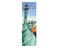 Apalis 79199 Wandgarderobe New York at Night | Design Garderobe Garderobenpaneel Kleiderhaken Flurgarderobe Hakenleiste Holz Standgarderobe Hängegarderobe | 139x46cm