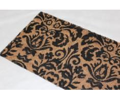 Homescapes Schmutzfangmatte Fußmatte Barock 45 x 75 cm (Breite x Länge) Türmatte aus 100% Kokosfaser mit rutschfestem Gummirücken strapazierfähiger Fußabtreter