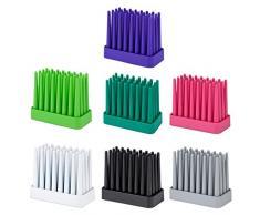 PRATO Design Regen-Schirmständer, robust, rutschfest und platzsparend, geeignet für 8 Stockschirme, grau