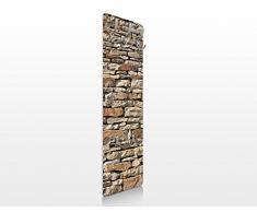 BIlderwelten 67495 Wandgarderobe Amerikanische Steinwand | Design Garderobe Garderobenpaneel Kleiderhaken Flurgarderobe Hakenleiste Holz Standgarderobe Hängegarderobe | 139x46cm