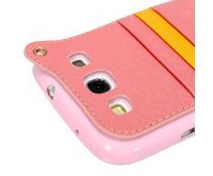 YOKIRIN Rosa Weich TPU Phone Case Hängegarderobe Gurt Seil Abdeckung Hülle für Samsung GALAXY SIII I9300 Tasche Handytasche Zubehör