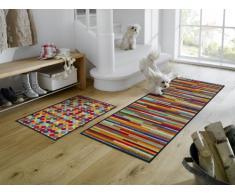 Wash+Dry Fußmatte Mikado Stripes, 60x180 cm, Innen, waschbar, Bunt, 060840
