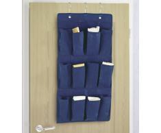 WENKO 4257030100 Hängeorganizer Air - 12 Fächer, Polypropylen-Faserstoff, Blau