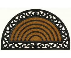 Fußmatte Kokosmatte Fußabtreter Türmatte Gummi Kokos Antik nostlgie Optik halbrund Art Deco Verona