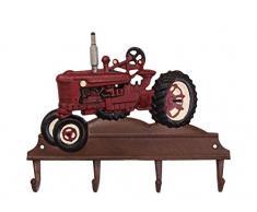aubaho Kleiderhaken Traktor Wandgarderobe Garderobe Fahrzeug Eisen Antik-Stil 35cm (c)