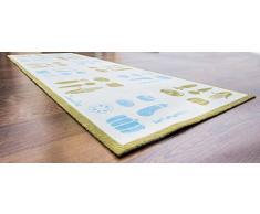 Doortex FR4KR2055VL Küchenläufer / Schmutzfangmatte, 50 x 140 cm, aus Nylonfasern auf Vinylrücken, Motiv: Gemüse - lang, rechteckig, für den Innenbereich