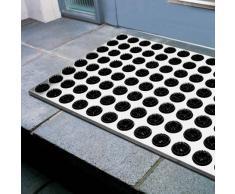 Radius Design - Fußmatte - feet Back I - Edelstahl - Schwarz - 58,5 x 39 x 1,9 cm