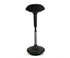 Ergotopia® Ergonomischer Bürohocker   Höhenverstellbarer Sitzhocker mit integriertem Bewegungsfeedback für dynamisches & gesundes Sitzen   Drehhocker gegen Rückenschmerzen & Verspannungen