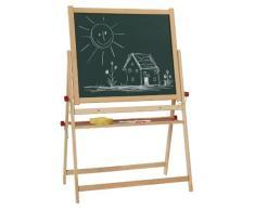 Eichhorn 100002567 - Magnettafel Standtafel, 12-teilig, 87 x 56 x 35 cm, Drehtafel beidseitig beschreibbar, mit 10 Kreiden und Schwamm, aus Buchenholz