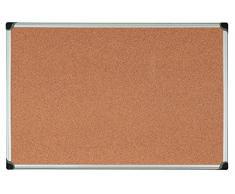 Bi-Office Korktafel Maya W, Mit Aluminiumrahmen, Hochwertige Naturkorkoberfläche, Pinnwand, 90 x 60 cm