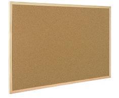 Bi-Office Korktafel / Pinnwand mit Holzrahmen- 5 Größen wählbar - 60 x 40 cm