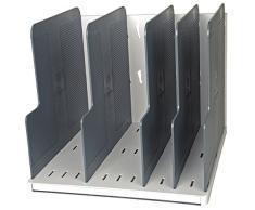 Exacompta 390740D Ablagesystem Modulotop - vertikal sorter mit 5 trennplatten Classic, lichtgrau/mausgrau