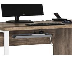 Komplettes Arbeitszimmer - Büromöbel Komplett Set Modell 2016 MAJA SET+ in Eiche Natur / Weißglas (SET 2)