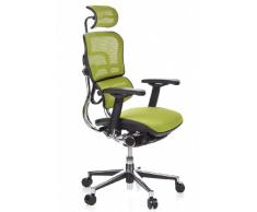 hjh OFFICE 652140 Luxus Chefsessel ERGOHUMAN Netzstoff Grün hochwertiger Bürodrehstuhl mit Vollausstattung