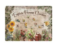Nostalgic-Art 25004 Home & Country - English Flower Garden, Magnettafel 30x40 cm inkl. 9 Magneten
