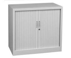QUERROLLADENSCHRANK Sideboard 80cm breit Stahl Büro Aktenschrank Rolladenschrank grau 555080 (HxBxT) 750 x 800 x 460 mm