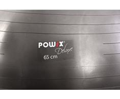 Gymnastikball Deluxe Anti Burst Grün verschiedene Größen 55 cm, 65 cm, 75 cm, 85 cm Sitzball Fitnessball Medizinball (Anthrazit Metallic, 65 cm)