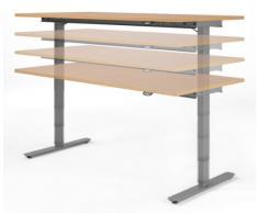 Geramöbel elektrisch höhenverstellbarer Schreibtisch 1200x800x680-1160, Buche